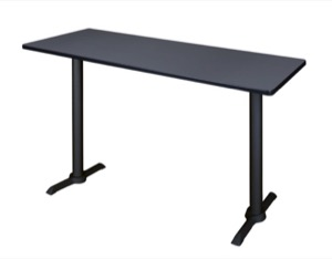 "Cain 60"" x 24"" Cafe High Top Table - Grey"