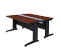 "Fusion 66"" x 58"" Benching Station - Cherry"