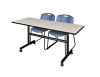 "Kobe Flip-Top Mobile Training Table - 60"" x 30"""