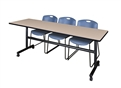 "Kobe Flip-Top Mobile Training Table - 84"" x 24"""