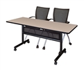 "Kobe Flip Top Mobile Training Table with Modesty Panel - 72"" x 24"""