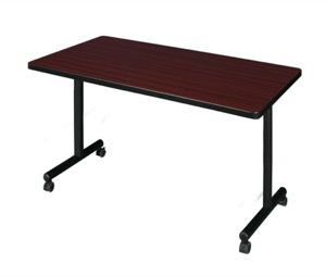 "42"" x 30"" Kobe T-Base Mobile Training Table - Mahogany"