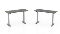 "Median Desk Bridge - 48"" Non-Handed Straight Bridge with 3-Stage Height-Adjustable Base"