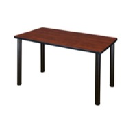 "42"" x 24"" Kee Training Table - Cherry/ Black"