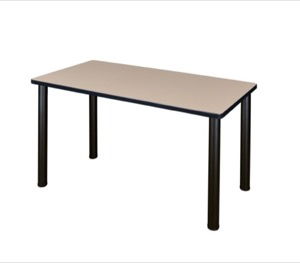 "48"" x 24"" Kee Training Table - Beige/ Black"