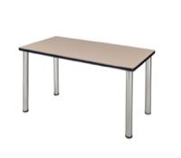 "48"" x 24"" Kee Training Table - Beige/ Chrome"
