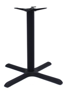 "Cain X-Base for 36-42"" Table Tops - Black"