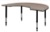 "72"" x 48"" Kidney Shaped Height Adjustable Classroom Table - Beige"