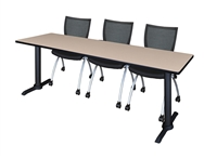 "Regency Cain T-Base Training Table - 84"" x 24"""