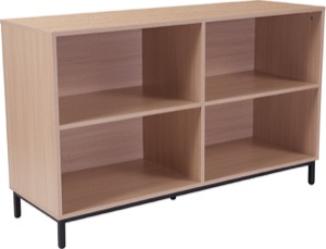 Dudley - Collection - Oak Wood Grain Bookshelf