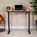 "Electric Height Adjustable Stand Up Desk - Table Top 48"" Wide - 24"" Deep (Mahogany)"