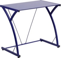 Blue Glass Computer Desk