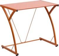 Orange Glass Computer Desk