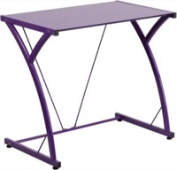 Purple Glass Computer Desk