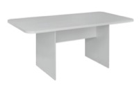 Niche Mod 6' Conference Table with No-Tools Assembly - White Wood Grain