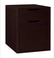 Niche Mod Freestanding Box File Pedestal with no Tools Assembly - Truffle