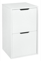 Niche Mod Freestanding File File Pedestal  - White Wood Grain