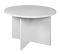 "Niche Mod 42"" Round Table - White Wood Grain"