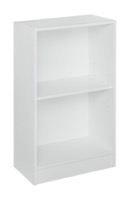 Niche Mod 2 shelf Bookcase  - White Wood Grain