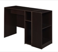 "Niche Mod 31"" Desk with 2 shelf Bookcase  - Truffle"