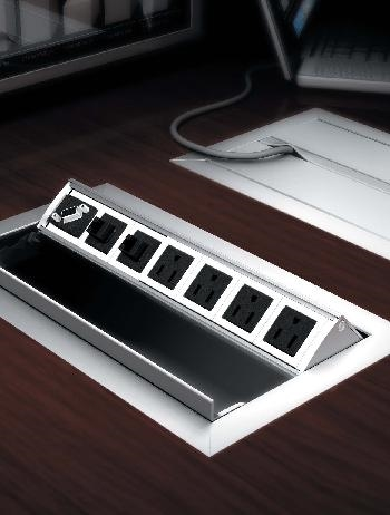 Power Data Video Management Modules Enhance Your Next Meeting - Conference table power data module