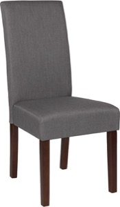 Lt Gray Fabric Parsons Chair
