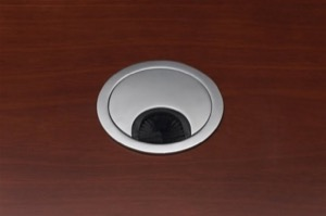 Grommet, Silver Only, Recommended for Conference Table and Desk Tops
