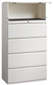 "Great Openings Storage - Lateral File - 4 Drawer with 1 Flipper Door- 64 1/8""H x 36""W"