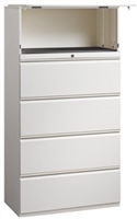 "Great Openings Storage - Lateral File - 4 Drawer with 1 Flipper Door- 64 1/8""H x 42""W"