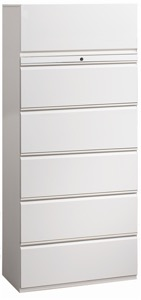"Great Openings Storage - Lateral File - 5 Drawer with 1 Flip-Top Door- 77 3/8""H x 42""W"