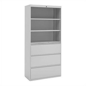 "Great Openings Storage - Lateral File - 3 Drawer 3 Shelves - 77 3/8""H x 30""W"