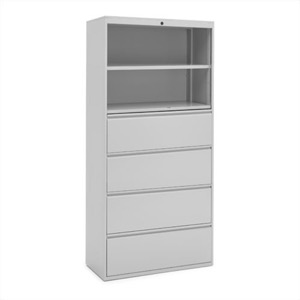 "Great Openings Storage - Lateral File - 4 Drawer 2 Shelves - 77 3/8""H x 36""W"