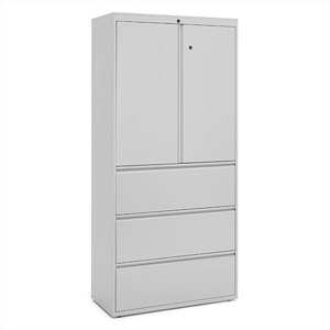 "Great Openings Storage - Lateral File - 3 Drawer with Storage Cabinet - 77 3/8""H x 42""W"