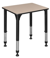 "18.5"" x 26"" Rectangle Height Adjustable School Desk - Beige"