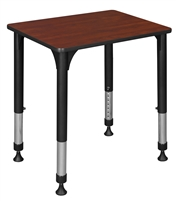"18.5"" x 26"" Rectangle Height Adjustable School Desk - Cherry"