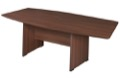 "Sandia 120"" Boat Shape Conference Table featuring Lockdowel Assembly - Java"