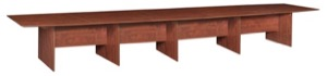 "Sandia 240"" Boat Shape Modular Conference Table featuring Lockdowel Assembly - Cherry"