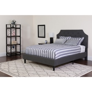 Full Platform Bed Dark Gray