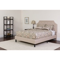 King Platform Bed Beige