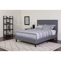 King Platform Bed Light Gray