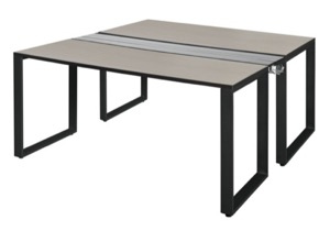"Structure 66"" x 24"" Benching System  - Maple/ Black"