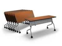 "Mayline Sync Training Table - SY1848H - 18"" x 48"" - HPL Surface"