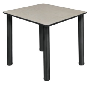 "Kee 30"" Square Slim Table  - Maple/ Black"
