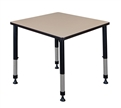 "Cain Classroom Table - 30"" Square Height Adjustable"