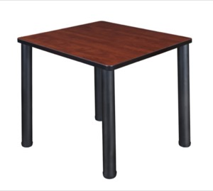 "Kee 30"" Square Breakroom Table - Cherry/ Black"