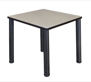 "Kee 30"" Square Breakroom Table - Maple/ Black"