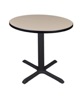 "Cain 30"" Round Breakroom Table - Beige"