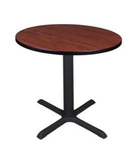 "Cain 30"" Round Breakroom Table - Cherry"
