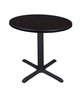 "Cain 30"" Round Breakroom Table - Mocha Walnut"