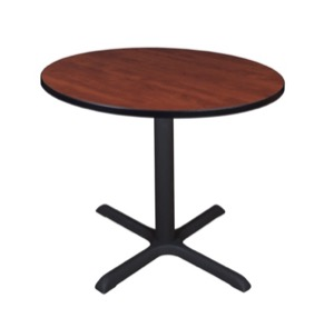 "Cain 36"" Round Breakroom Table - Cherry"